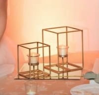 18 Set Gold Candle Holder Centerpieces includes candles Mount Vernon, 10552