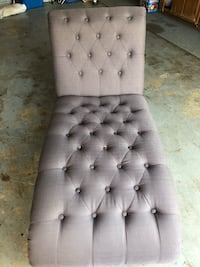 Gently used  Tufted chocolate brown/stone Chaise lounge 275.00 Charlotte, 28262