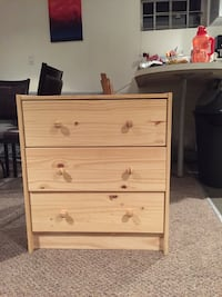 brown wooden 3-drawer chest Toronto, M5S 2J1