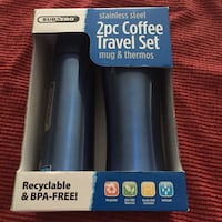 Subzero stainless steel 2 pc coffee travel set in box Worcester, 01609