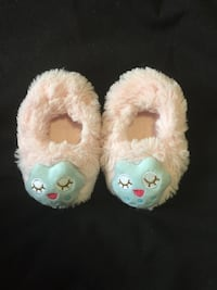 White-and-blue home slippers
