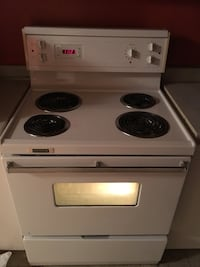 white and black electric coil range oven Montréal, H2H
