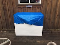 blue and white wooden cabinet Innisfil, L9S 2E3