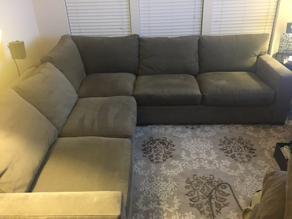 Crate&Barrel Axis II 3 piece Sectional Sofa