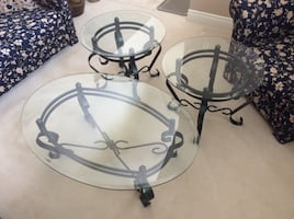 Gorgeous Glass Coffee Table Set