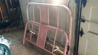 Antique bed, full size with frame, head and foot b