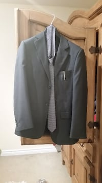 Boys suit jacket, tie and clip BARRIE