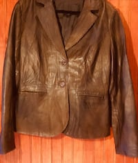 Size 10 Dean & White Brown Soft Leather Blazer Kelowna, V1W 1V4