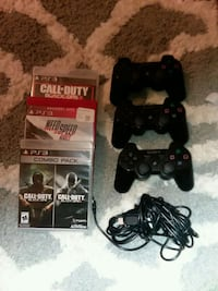 black Sony PS3 Slim with two controllers Bentonville, 72712