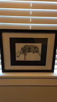Framed leopard drawing  Langley, V2Y 2A9