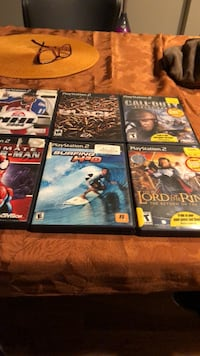 6 ps2 console games. Great games 12 dollars