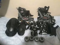 Brand new black and gray roller blades gear set Kelowna, V1Y 6K7