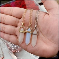 PRICE IS FIRM - Rose & Opal Quartz Crystal Necklaces - Brand New Toronto, M4B 2T2