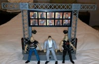 1999 Jakks WWF Titan Tron Live Lights/ Music Stage & 3 Wrestlers Works Franklin Square, 11010