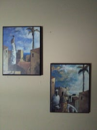 two house paintings with black frames 723 mi