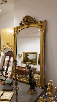 brown wooden frame wall mirror Toronto, M5R 1J2