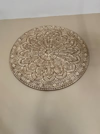 Large wall medallion- neutral color