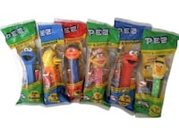 NEW Sesame Street Pez Candy Dispensers: Set of 6 + BONUS Elmo !!!!!!