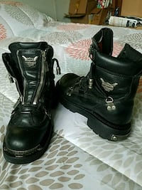 Steel toe Harley Davidson boots womans size 7