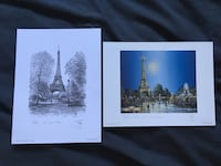 Small prints purchased in Paris