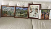four assorted paintings with brown wooden frames Brampton, L6S 2X8