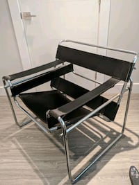 Wassily chair - Leather and chrome