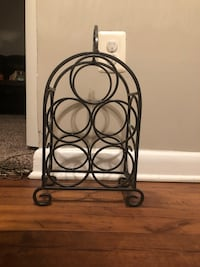 black wrought iron wine bottle rack Gaithersburg, 20878