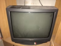 black CRT TV with remote Richmond Hill, L4S 2N6