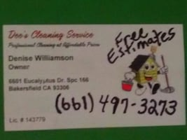 """Dee""""s Cleaning Service"""