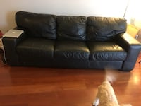 Pebble leather couch Antioch