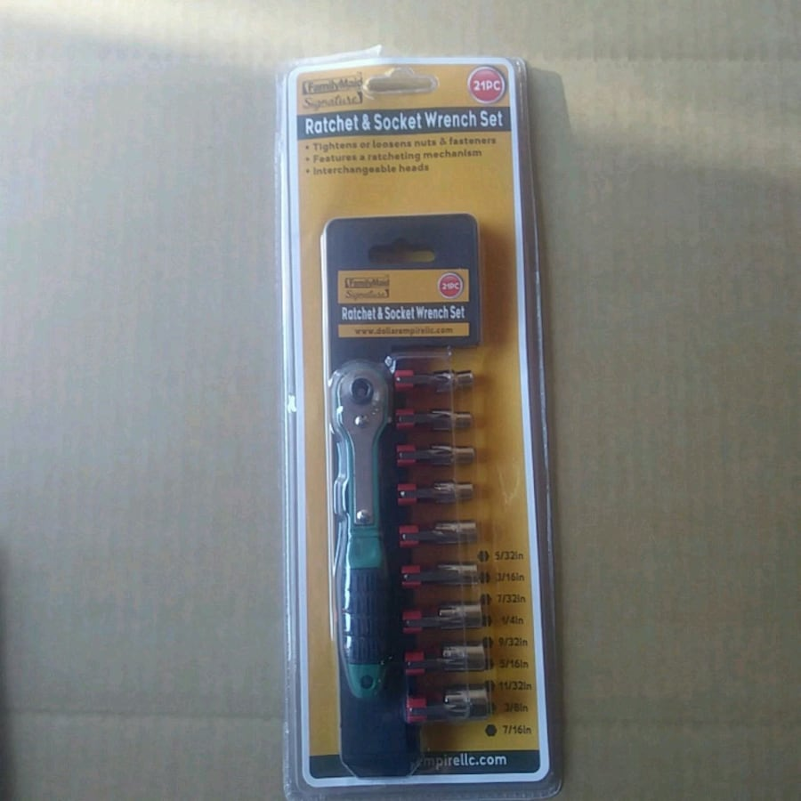 Ratched & Socket Wrench Set 21Pcs