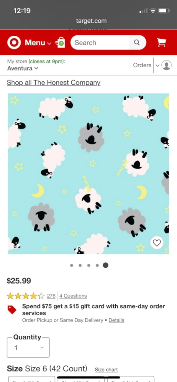 Used OVERNIGHT DIAPERS, SLEEPY SHEEP, SIZE 6 for sale in Sunny ...
