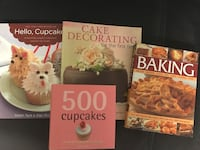 Four baking/cupcake books  Toronto, M6G 2V9