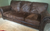 Brown leather 3-seat sofa Stafford, 22554