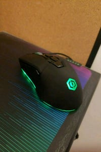 black and green corded computer mouse Coquitlam, V3B 7P5