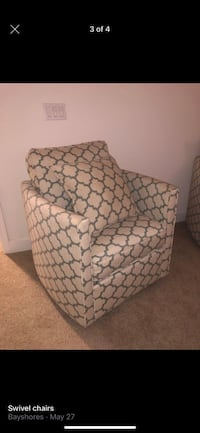 Two swivel chairs