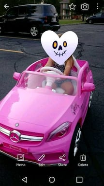 Pink power wheels