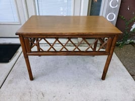 Table / Coffee table/ plant stand /Bamboo wicker look