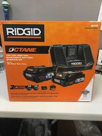 2 Rigid 18v batteries with charger new in box Birmingham, 35211