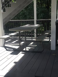 white and black metal frame patio table Stafford, 22554