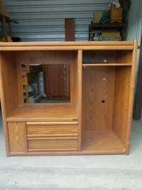 brown wooden cabinet with hutch Bel Air, 21015