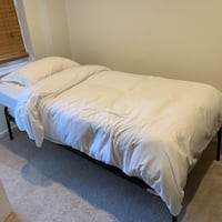 Twin Mattress and Frame + Trundle