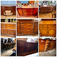 Solid wood vintage buffet assortment- project pieces