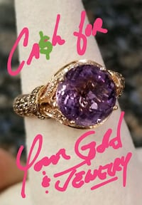 gold-colored and purple gemstone ring Woodbridge, 22192