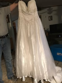 Strapless wedding or prom dress