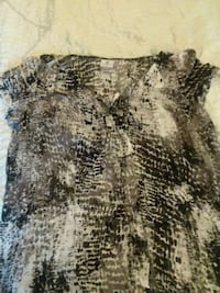 Sheer blouse size 1X black white and gray Raleigh, 27613