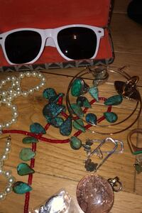 Mixed gold and silver jewelry sunglasses mostly antique