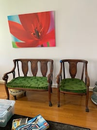 Emerald velvet Bench and chair Brookeville, 20833