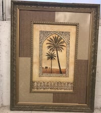 Set of 3 very large wall art in beautiful frame Philadelphia