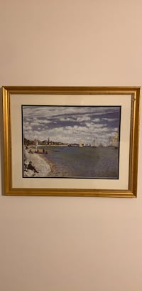 Gold painted framed of beautiful French beach Bethesda, 20814